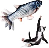Jouet en forme de poisson pour chat - Jouet interactif à mâcher - Parfait pour mordre, mâcher et donner des coups de pied