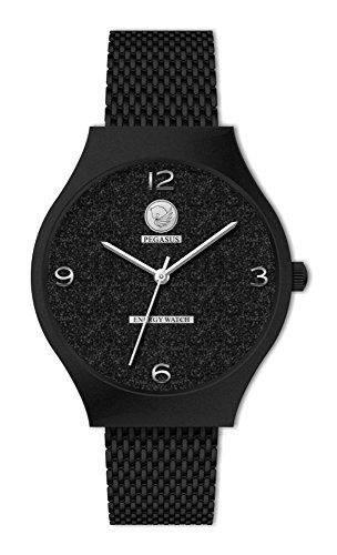 Twilight Fashion Glitter Design Quartz Magnet Uhr schwarz Magnetschmuck Armbanduhr Breo nickelfrei allergiefrei Energetix 4you 2165 im Schmuckpouch