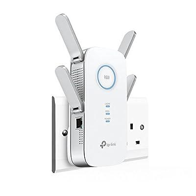 TP-Link RE650 AC2600 Universal Dual Band Range Extender, Broadband/Wi-Fi Extender, Wi-Fi Booster/Hotspot with 1 Gigabit Port and 4 External Antennas, Built-In Access Point Mode, UK Plug