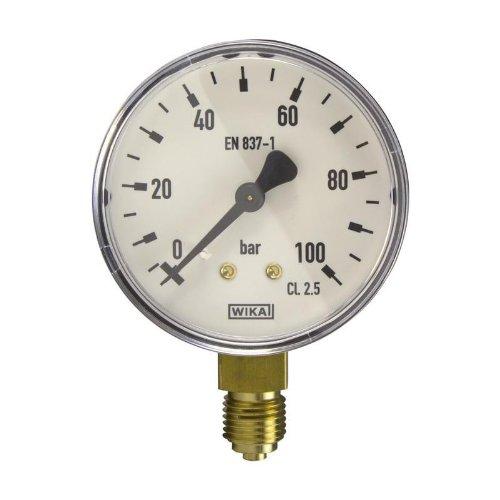 Manometer, NG63, 0-100 bar - WIKA 111.10 - 9013725