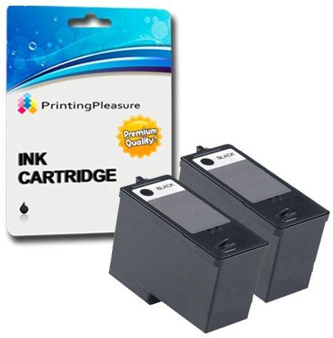 2 SCHWARZ Druckerpatronen für Dell All-In-One 966, 968 | kompatibel zu Dell Serie 7 (CH883)