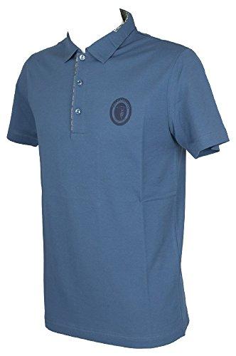 Trussardi Kurzarm Herren Poloshirt mit Kragen und Knöpfe Artikel TB612G, 165 Egeo, XL