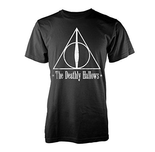 Plastic Head Harry Potter The Deathly Hallows T-Shirt, Noir, L Homme