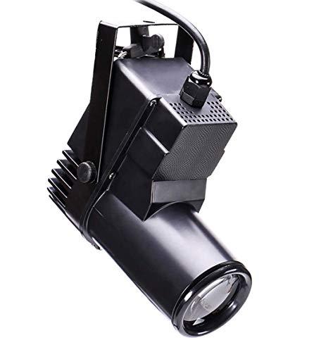 Foco LED para Escenario,UKing 10W LED Blanco Beam Pinspot,RGBW 4 en 1 Sonido Activado y Automático por Voz Efecto de Luz for Hogar, Fiesta, Club, Discoteca (1 pcs)