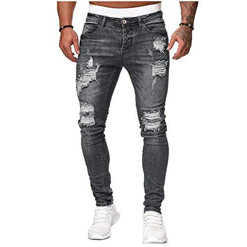N\P Pantalones vaqueros de los hombres pantalones rasgados slim Biker pantalones de deporte sexy agujero Outwears casual verano