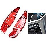 mlzaq For BMW F30 F31 F32 F10 F20 F22 F15 F16 X1 X3 X4 X5 X6 de Fibra de Carbono de dirección la Rueda de Paleta Shifter Gear Shift Shifter Extensión (Color : Type A Red Carbon)
