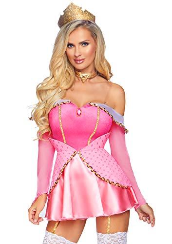 Leg Avenue Naughty Napping Princess Disfraces para Adultos, Rosa, XS (EUR 34) para Mujer