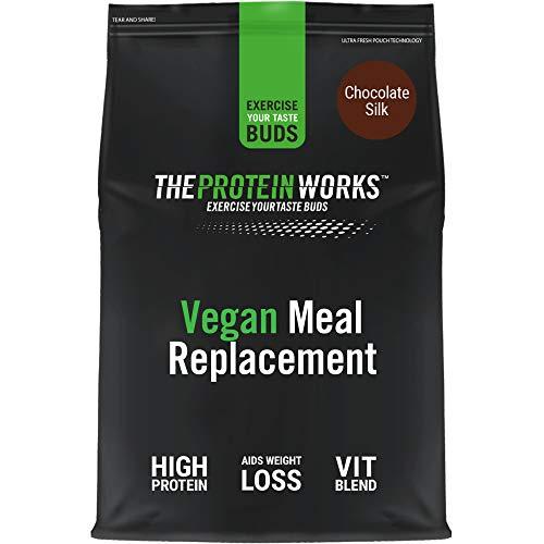 Comida Vegana Completa | 100% Origen Vegetal, Asequible, Saludable, Rápido, Batido Sustitutivo de Comidas | THE PROTEIN WORKS, Fresas con Nata, 500g