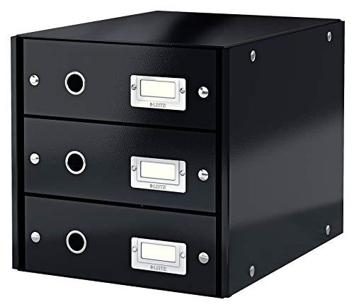 Leitz Click & Store Schubladenset, 3 Schubladen, A4, schwarz, 60480095