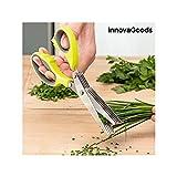 InnovaGoods IG813550 Forbici da Cucina Multitaglio 5 in 1, Giallo