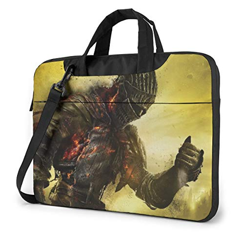 """Dark Soul - Bolsa para portátil de 14 a 15 y 16 pulgadas, bolsa de mensajero repelente al agua para laptop bolsa de transporte para tabletas y hombres Negro Negro 13"""" (33 cm)"""