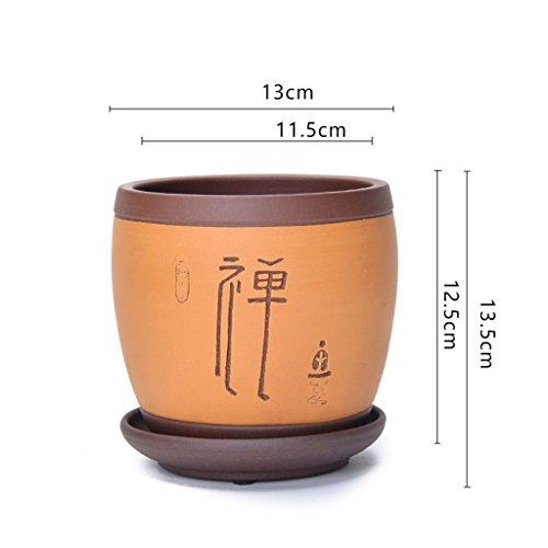 Pot de fleurs BOBE Shop en céramique Chinois Vase Jardin conteneur intérieur pour Plantes succulentes orchidée Bureau Balcon décoration (Couleur : #2)