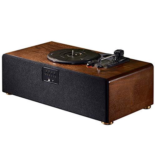 Tocadiscos De Vinilo Vintage, Tocadiscos De 3 Velocidades, Gramófono Bluetooth, Fonógrafo con 2 Altavoces Estéreo Integrados, Aguja De Repuesto Compatible con Salida De Línea RCA, TF, Decorar