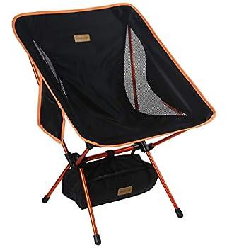 TREKOLOGY YIZI GO Chaise de Camping Portable avec Hauteur réglable - Chaises Pliantes compactes Ultra-légères dans Un Sac de Transport, pour randonneurs, Camping, Plage, Plein air, Plein air.