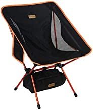 YIZI GO Portable Camping Chair - Compact Ultralight Folding Backpacking Chairs, Small Collapsible Foldable Packable Lightweight Backpack Chair in a Bag for Outdoor, Camp, Picnic, Hiking
