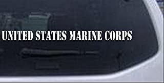 United States Marine Corps Windshield Military Car or Truck Window Laptop Decal Sticker -- White 14in X 1.1in