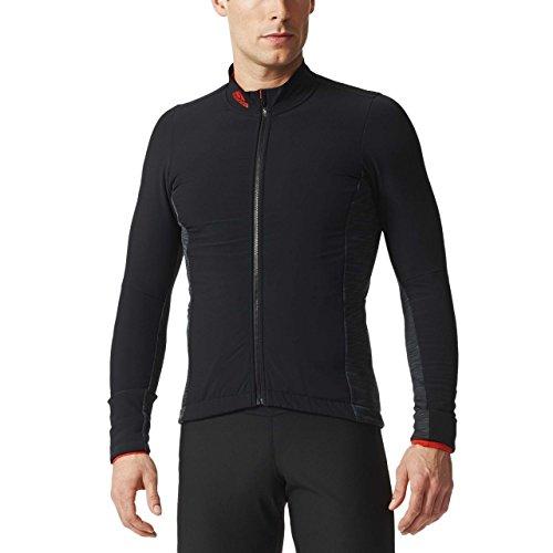 adidas Cycling Herren Radjacke Supernova Climaheat Jacket, Black/Bold orange, M