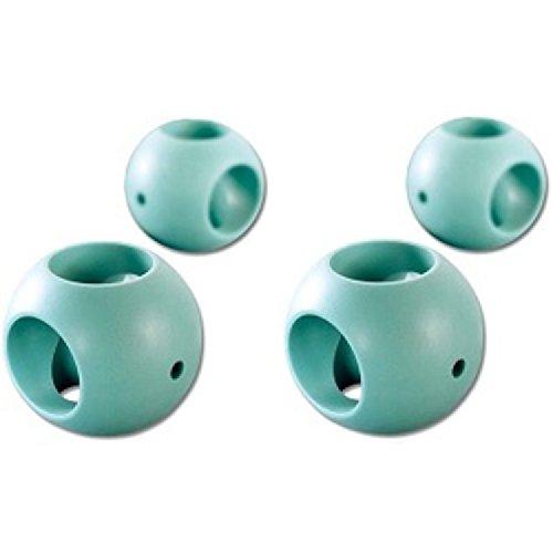 FISHTEC - Magnetische Kugel gegen Kalk, 2 x Spülmaschine + 2 x Waschmaschine, 4 Stück