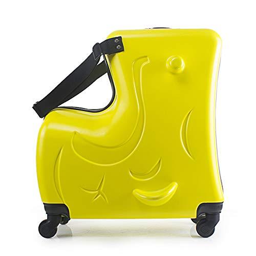 KGDUYH Maleta para niños con ruedas de 50,8 cm, para niños, con ruedas, para cabina, estudiante, bolsa de viaje para bebé, para viajes y negocios (color: amarillo, tamaño del equipaje: 24 pulgadas)