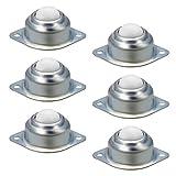 6 Pcs Universal Transferencia A Bola Fácil De Instalar Rueda De Bola Nylon Para Maquinaria Para Muebles