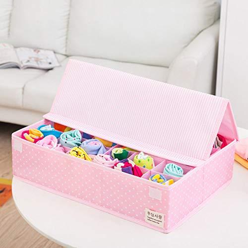 PUDDINGHHSchubladenunterteilungen, Stück Aufbewahrungsboxen Für Büstenhalter, Unterwäsche, Dessous, Socken,Pink