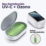 Caja Desinfección Esterilizadora UV tipo UV-C + Desinfección por Ozono Multifuncion con carga Inalambrica Wireless