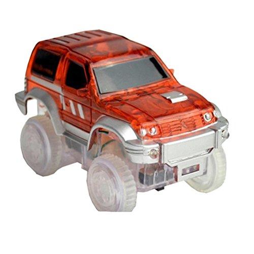 STOBOK Mini modèle de Voiture Race Truck Truck Toy avec lumière Clignotante LED s'allume Voitures électroniques à Piles pour Enfants Enfants (Rouge)