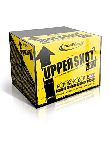 IronMaxx Upper Shot Zero Premium Pre-Workout Booster, Geschmack Cola, 12x 60 ml (12er Pack)