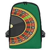 Zaino per ragazzi e ragazze Green Roulette Gioco da tavolo Cute Rucksack Bag Outdoor Casua...
