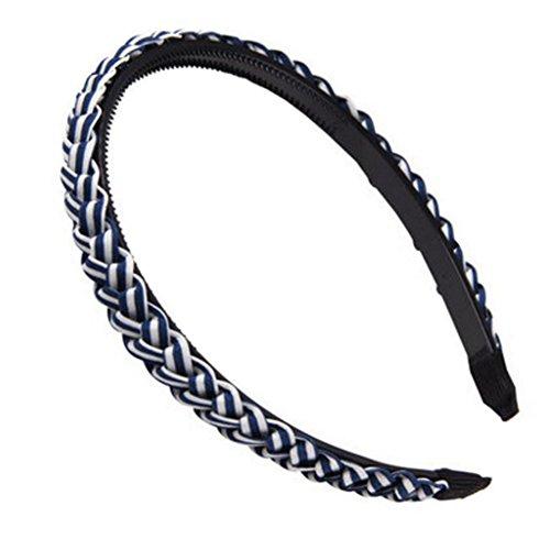 M?dchen Stilvolle Geflochtene Stirnband Haarband Haarschmuck, Tiefes Blau