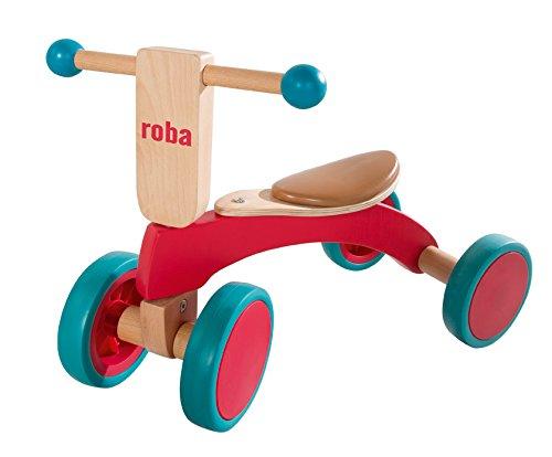Roba houten glijbaan, kindervoertuig van hout, loopwiel voor kleine kinderen vanaf 1 jaar