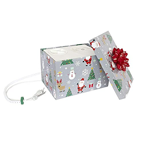 HoHoHoH2o Automatic Christmas Tree Watering System Device, Santa's Tree Helper Keeps Your Christmas Tree Healthy and Fresh, Refillable 2.5 gallons Capacity Box - Silver/Festive
