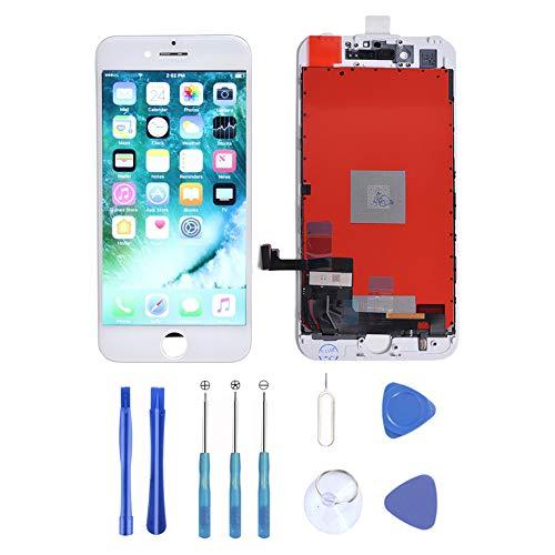 Supnew LCD Display per iPhone 7 Bianco, LCD Touch Screen Digitizer Front Vetro Completo Display Retina Riparazione Schermo di Ricambio per iPhone 7 Bianco (4.7) + Set di Attrezzi