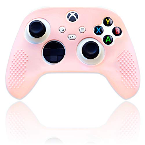 BelugaDesign Pastel Skin Cover for Wireless Controller   Soft Sleeve Shell Case with Textured Grip   Compatible with Xbox Series X/S and Xbox One (Light Pink)