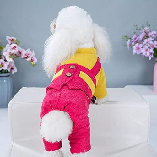 MDKAZ Ropa para Perros a la Moda para Perros Abrigo Sudadera Mono Ropa para Perros de Cuatro Estaciones Ropa para Mascotas de Dibujos Animados Mono-L
