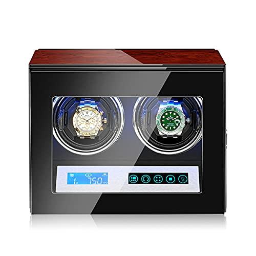 LYLSXY Caja Enrolladora De Reloj Automática con Motor Silencioso, Soporte De Exhibición Giratorio para 2 Relojes De Pulsera (Color : 2 epitopes)