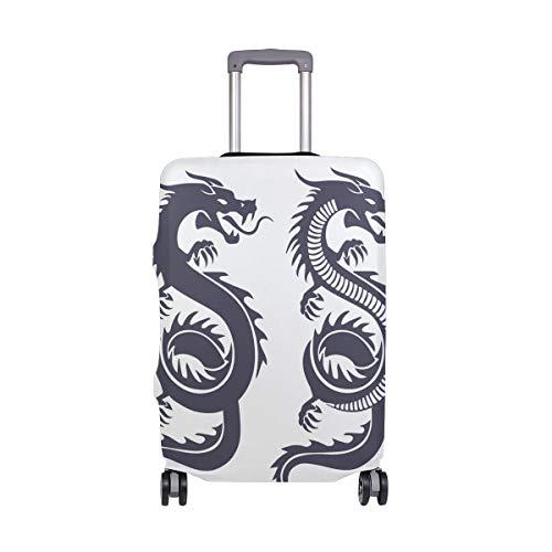FANTAZIO - Funda Protectora para Maleta, diseño de dragón Chino Tradicional