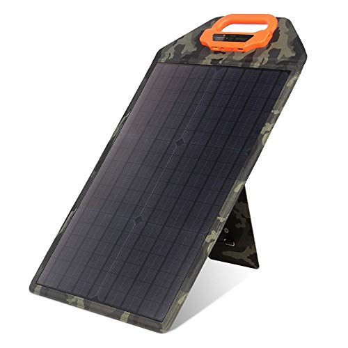 MOOLSUN 25W Solar Panel Power, Support 2-4 Parallel Power Increase(100w Max) High Output Performance Light Strength Sensor XT60 DC USB Portable Waterproof Monocrystall Solar Panel kit for Camping RV
