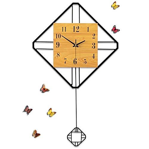 LG Snow Oscilación del Reloj Simple Tabla Sala De Estar Moderna De La Decoración del Reloj De Pared Silenciosa Creativa Europea Reloj De Pared 67 * 40cm