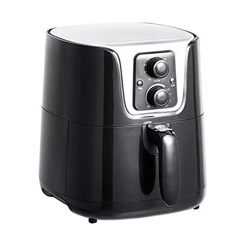 Amazon Basics - Freidora de aire, compacta y multifuncional, 3 litros