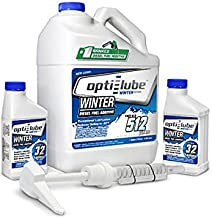 Opti-Lube Winter Formula Anti-Gel Diesel Fuel Additive: 1 Gallon with Accessories, (1 Plastic Hand Pump and 2 Empty 8oz Bottles) Treats up to 512 Gallons