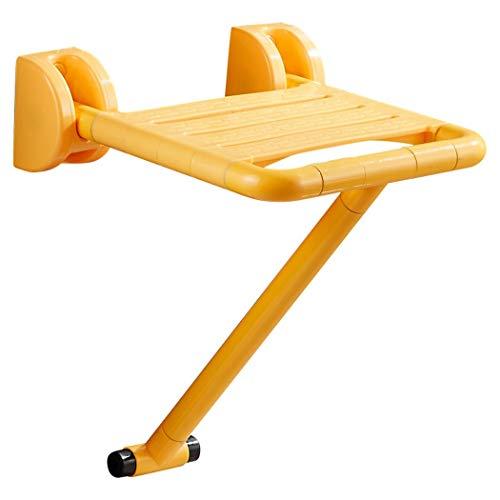 ZZZYZ Klappbarer Duschsitz Dusch Hocker Duschhilfe FüR Senioren Behindertengerecht FüR Bad Wandmontage Aus Pflegeleichtem Yellow