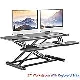 IMtKotW Standing Desk Converter-Height Adjustable Sit Stand Desk Riser-Stand up...