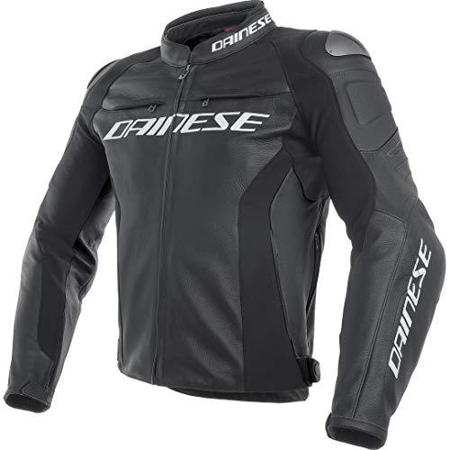 Herren Motorrad-Jacke Leder Dainese Racing 3Pelle ,Schwarz Größe 50