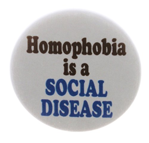QTY 5 Homophobia is a SOCIAL DISEASE 2.25' Keychains Support LGBT Community