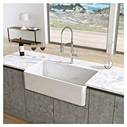 "Latoscana 33"" Reversible Fireclay Farmhouse Sink LFS3318W"