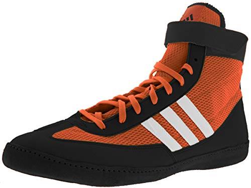 adidas Combat Speed 4 Wrestling Shoes - Orange/Black/White - 11.5