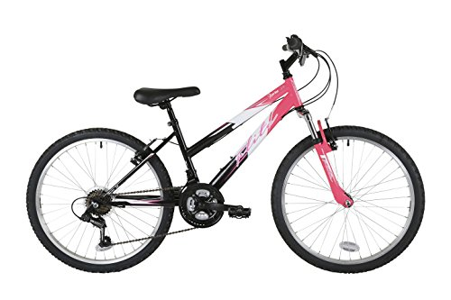 Flite FL075T Girl Ravine Bike, 24 inch Wheel - Multicolour (Black/Pink)