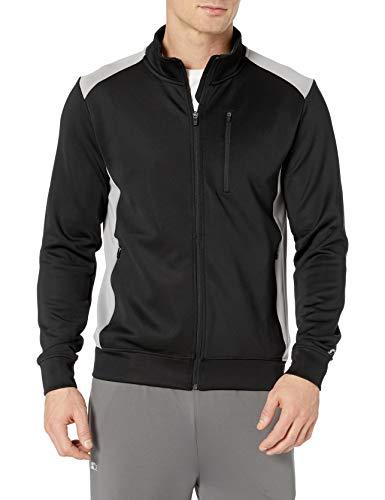 Starter Men's Track Jacket, Amazon Exclusive, Black, Large