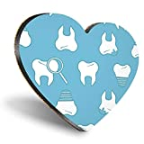 Posavasos con forma de corazón de MDF, dentista dental, para hombre | Posavasos de calidad brillante | Protección de mesa para cualquier tipo de mesa #8501